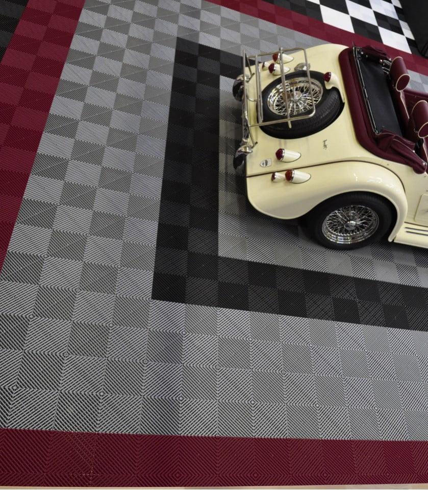 Dalles de sol garage sport auto polydal rev tement de - Revetement de sol dalles adhesives ...