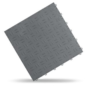 dalle esprit métal gris Polydal