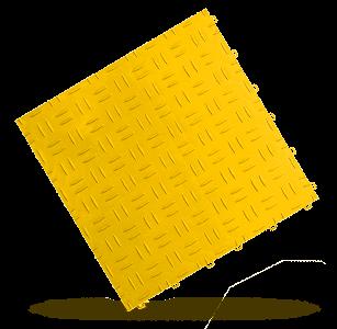 dalle esprit métal jaune Polydal