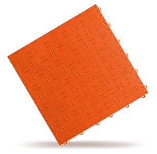 dalle esprit métal orange Polydal