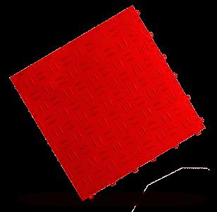 dalle esprit métal rouge Polydal