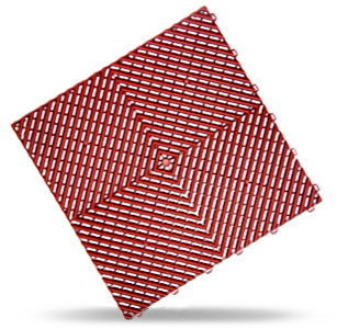 polydal dalle damier rouge classic