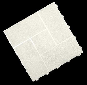 dalle pavé blanc
