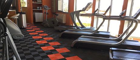 dalles de sol Polydal salle de sport
