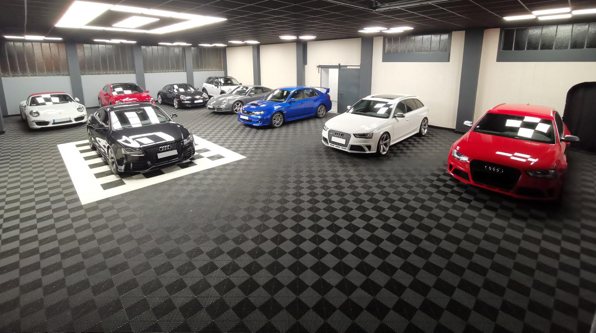 Dalle garage sport auto Polydal, revêtement de sol clipsable