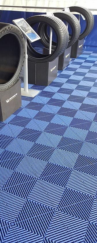 dalles de sol Polydal bleu michelin