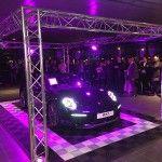 tapis de sol pour lancement evenementiel Porsche