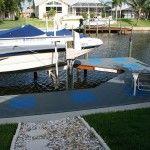 dalle exterieur : ponton bateau