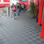 sol pour stand reception Ferrari 24h du mans