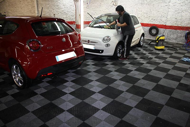 Dalles drainantes pour sol polydal for Sol garage damier