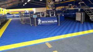 Dalles de sol Polydal dans les ateliers Michelin