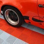 dalles de sol damier classic Polydal Porsche
