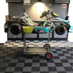 dalles de sol Polydal atelier karting