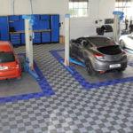 dalles de sol pleines ajourées Polydal atelier mécanique