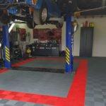 dalles de sol ajourées Polydal atelier privé