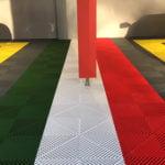 dalles de sol Polydal garage drapeau Italie