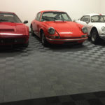 dalles de sol Polydal garage Ferrari Porsche Alpine