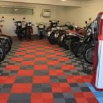 dalles_de_sol_Polydal_garage_collection_motos