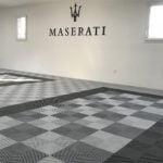 dalles_de_sol_Polydal_garage_privé_Maserati
