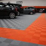dalles de sol Polydal chemin orange showroom
