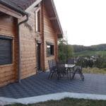 dalles de sol damier drainantes Polydal terrasse extérieure