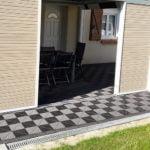 dalles de sol Polydal gris alu foncé pour terrasse