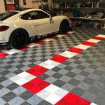 dalles de sol Polydal garage privé Porsche