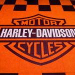 dalles Polydal orange noir logo Harley Davidson