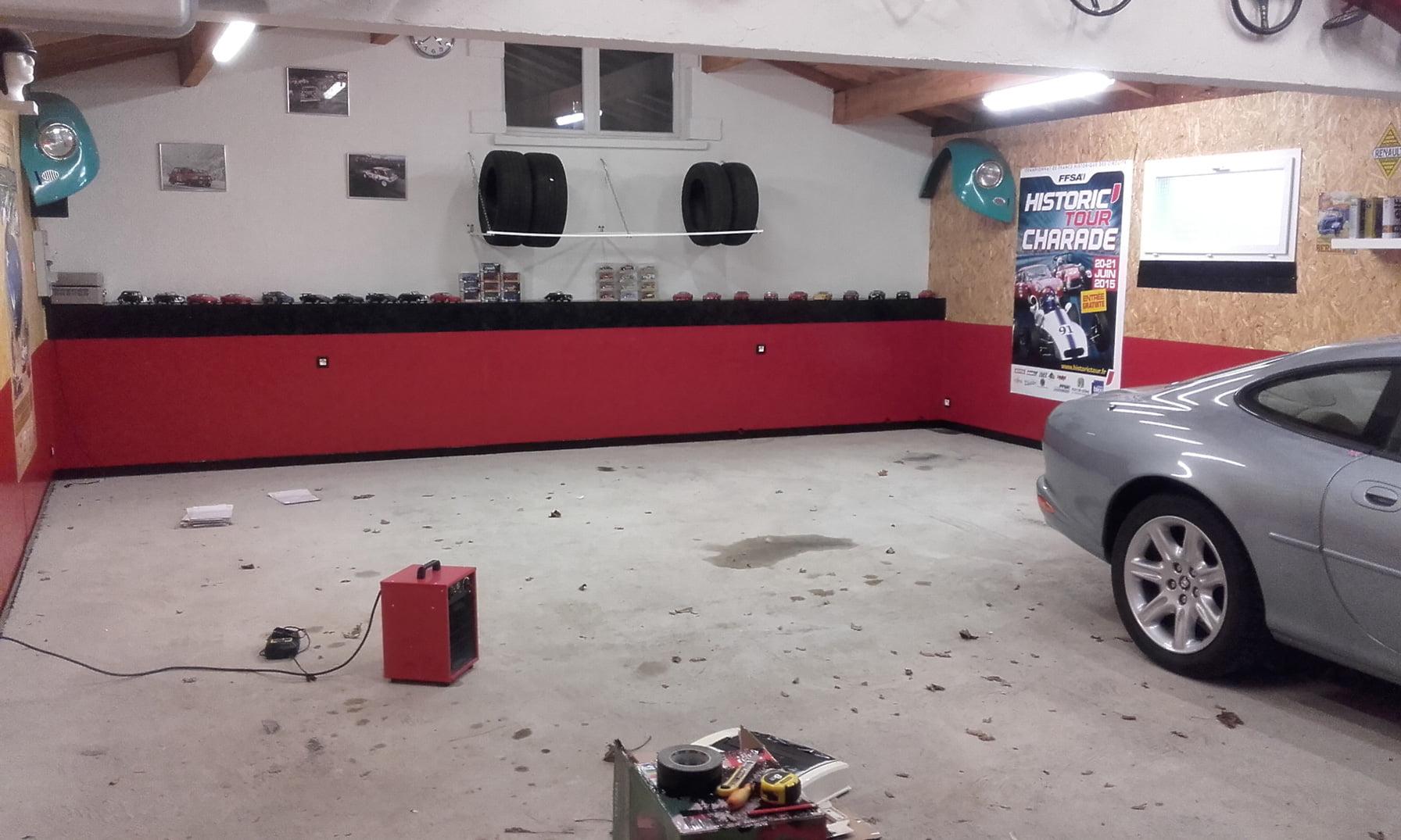 sol de garage privé avant Polydal