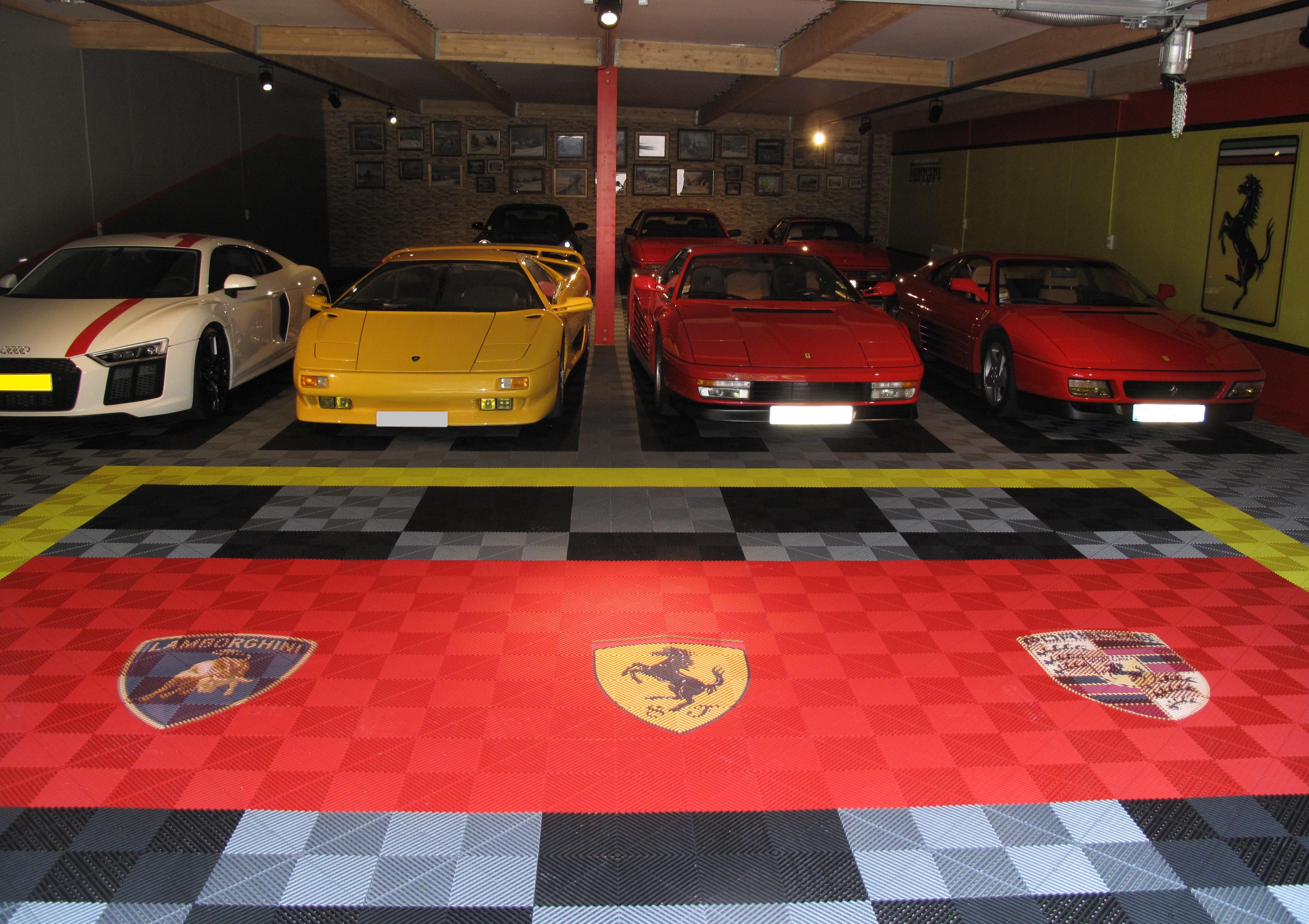 garage 12 places après pose dalles Polydal