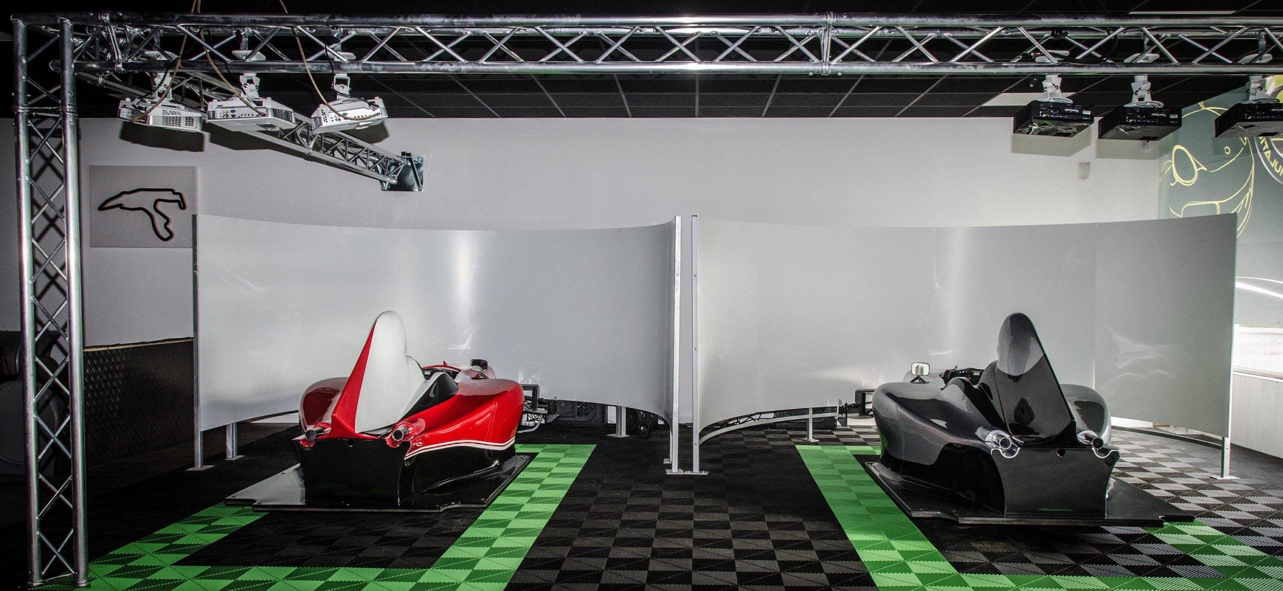 Polydal sol noir et vert pour simulateurs de course
