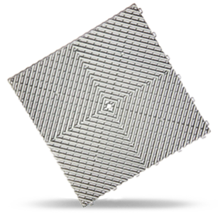 polydal dalle damier gris aluminium clair