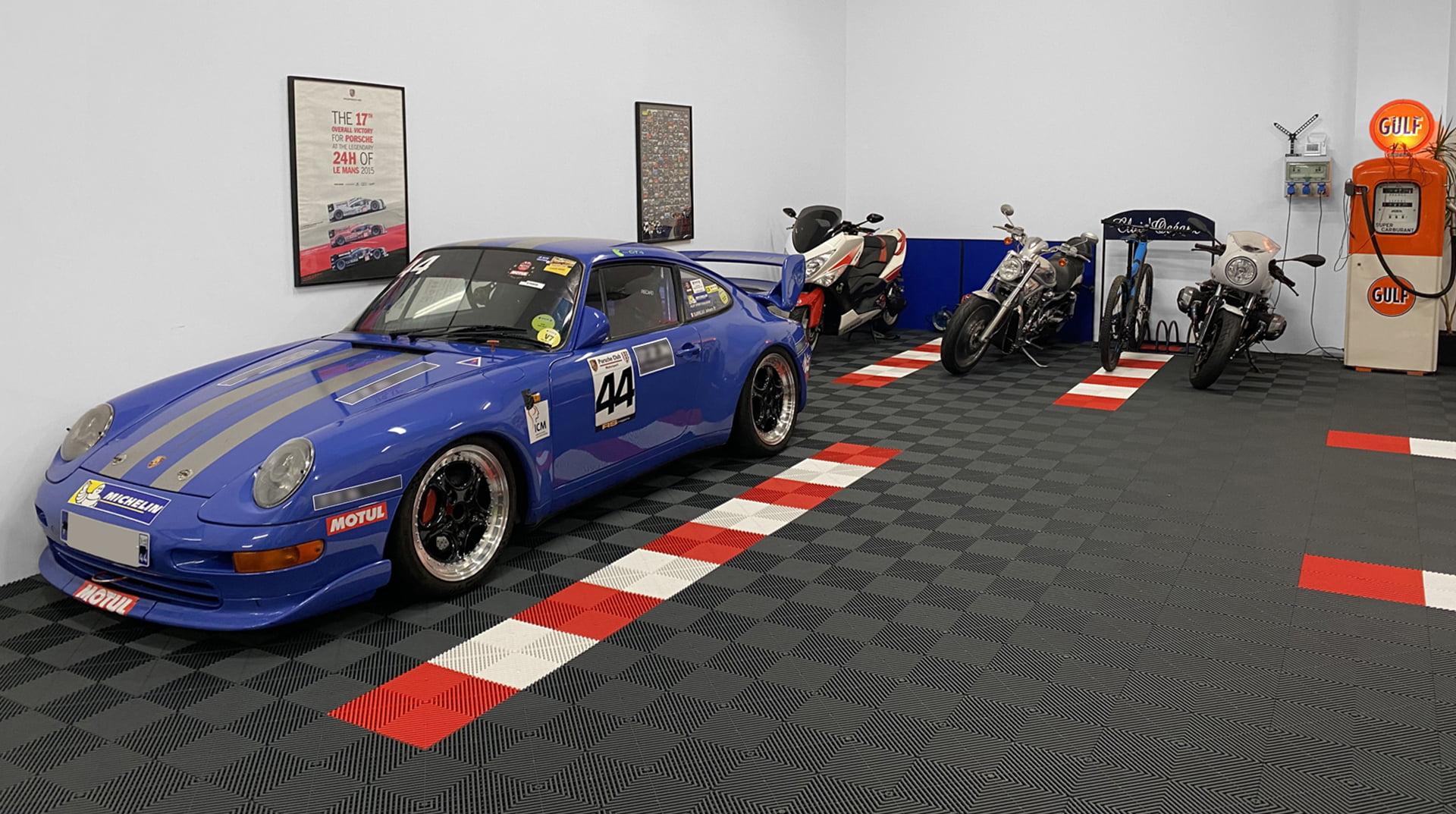 Revetement De Sol Pour Garage dalle garage sport auto polydal, revêtement de sol clipsable